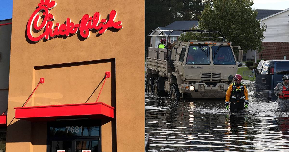 Chick-fil-A and more restaurants giving away food to Hurricane Florence first responders