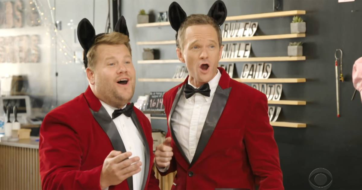 James Corden, Neil Patrick Harris team up to deliver hilarious singing telegrams