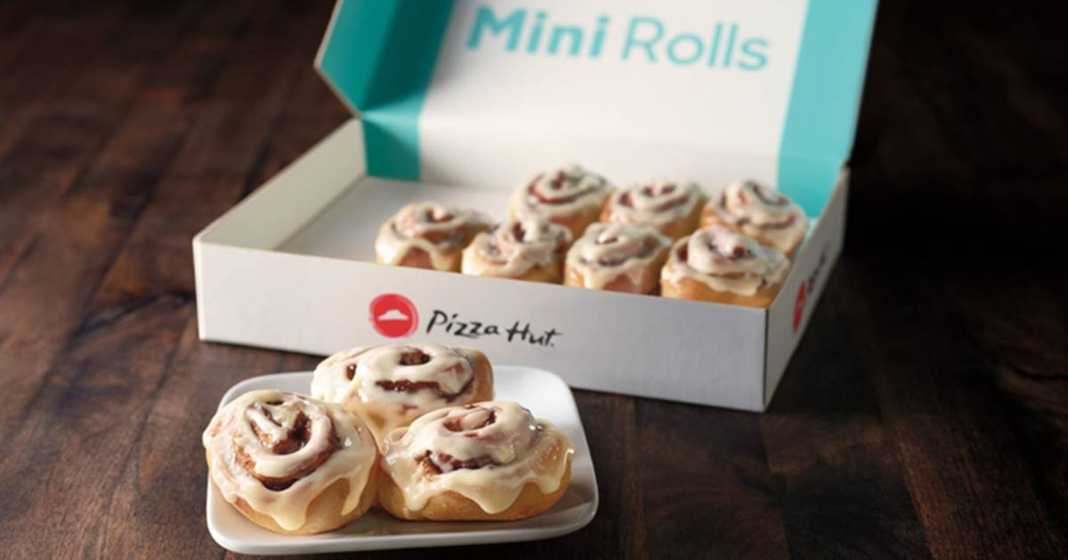 People are freaking out that Pizza Hut added Cinnabons to its menu