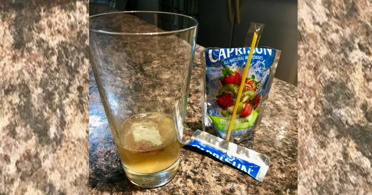 Father warns parents after finding mold in Capri Sun juice pouch