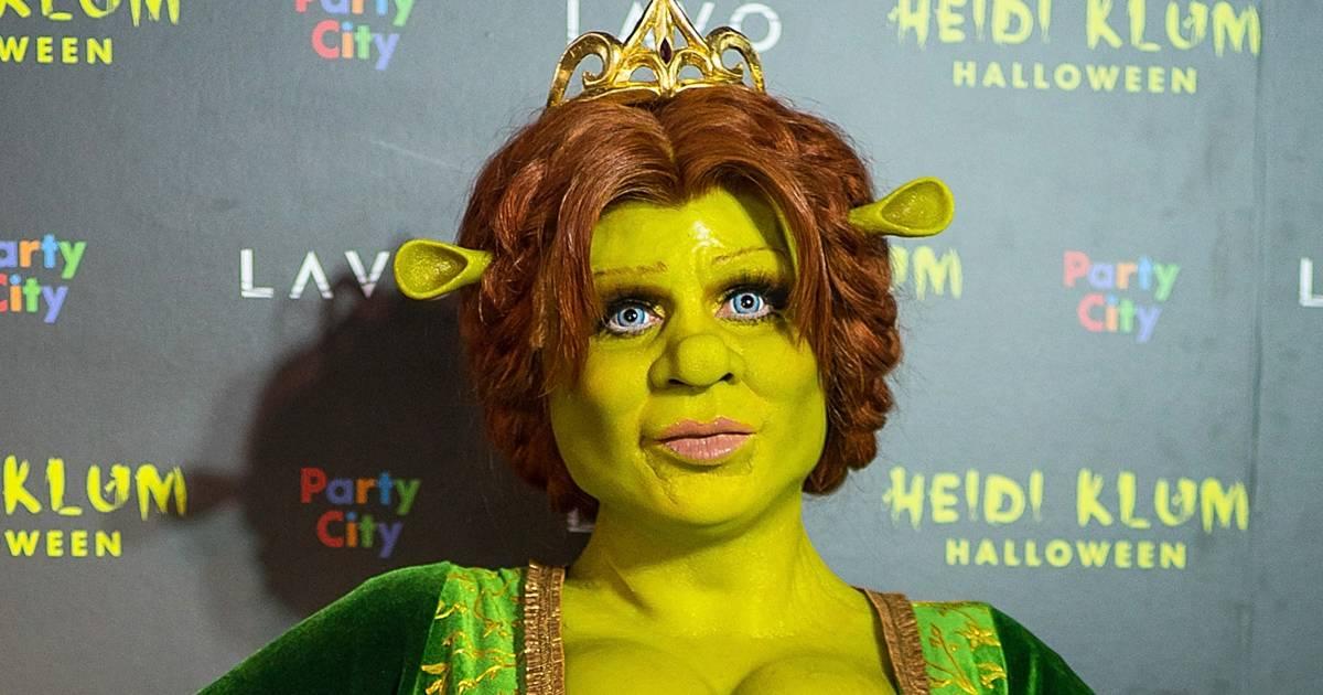 Heidi Klum dresses as Princess Fiona from 'Shrek'