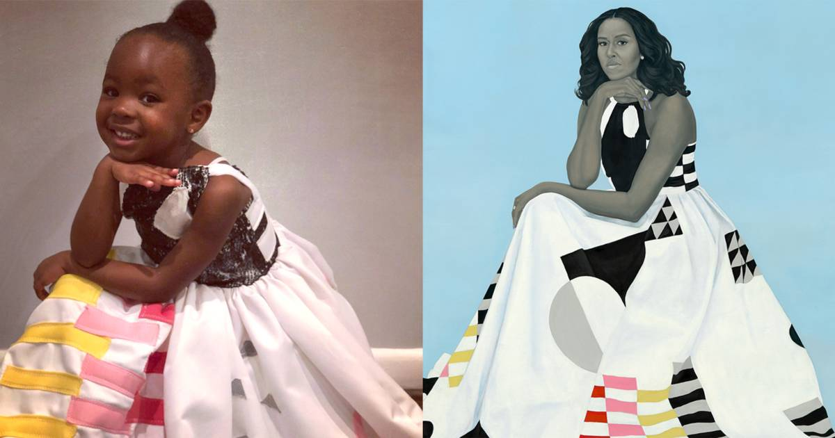 Michelle Obama's biggest 3-year-old fan dressed as her for Halloween