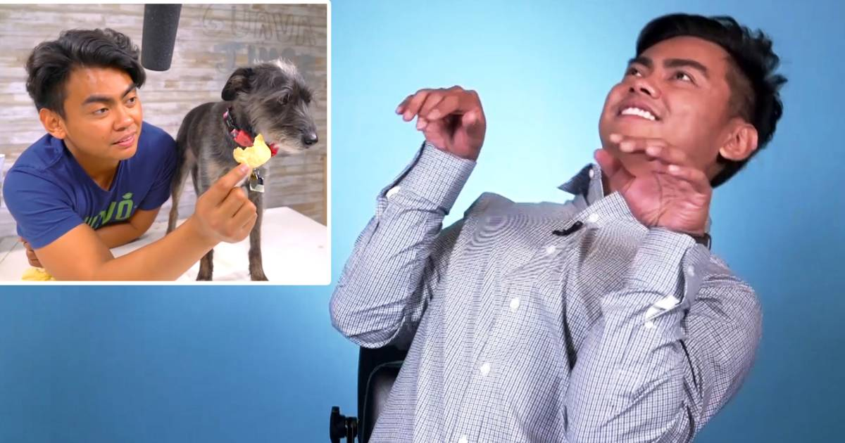Viral YouTube star of Guava Juice reveals what it's like to have his dogs on set