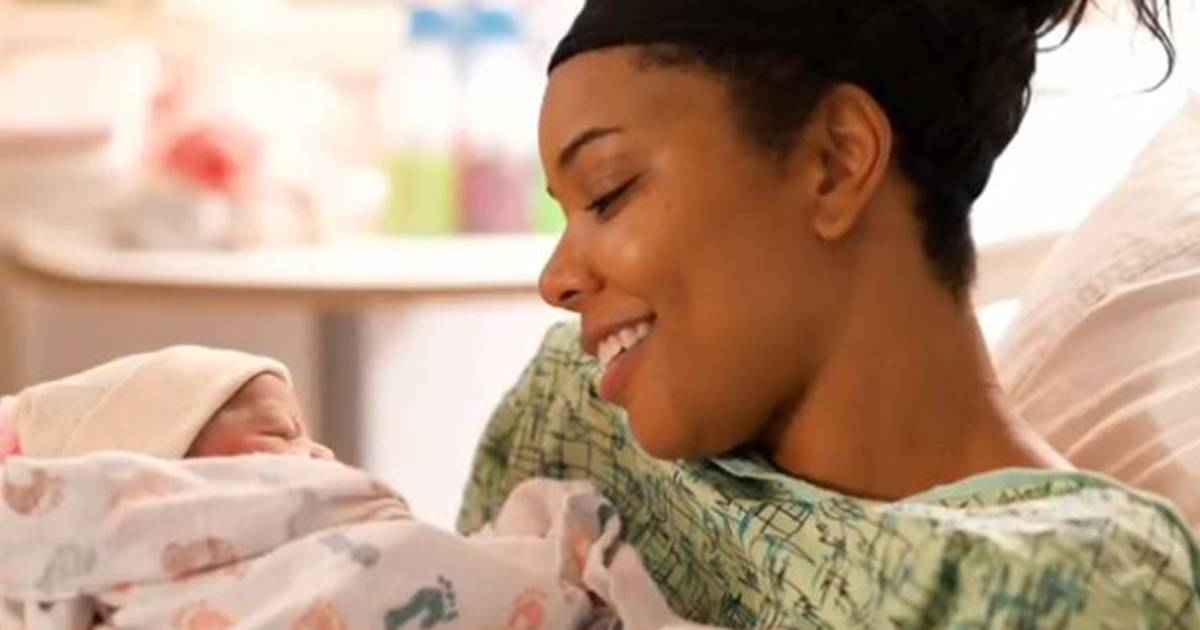Gabrielle Union shares emotional video from moment daughter was born