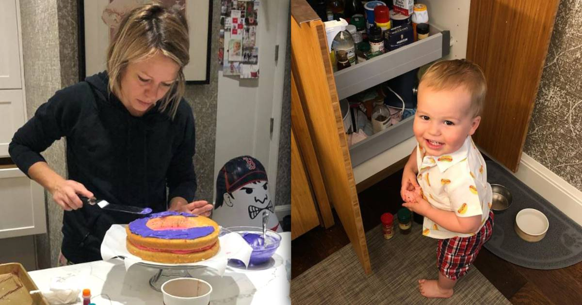 Dylan Dreyer bakes a candy piñata cake for son Calvin's 2nd birthday