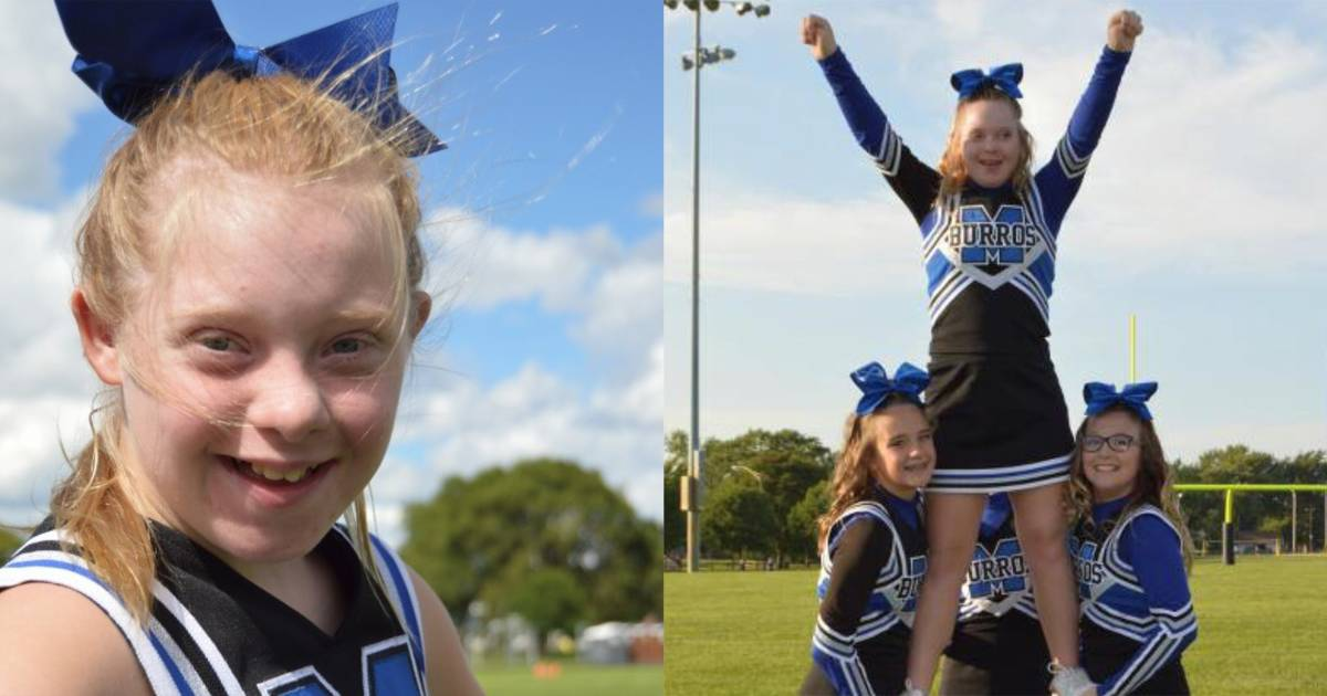 Audrey Chisholm, teen with Down syndrome, is a cheer champ