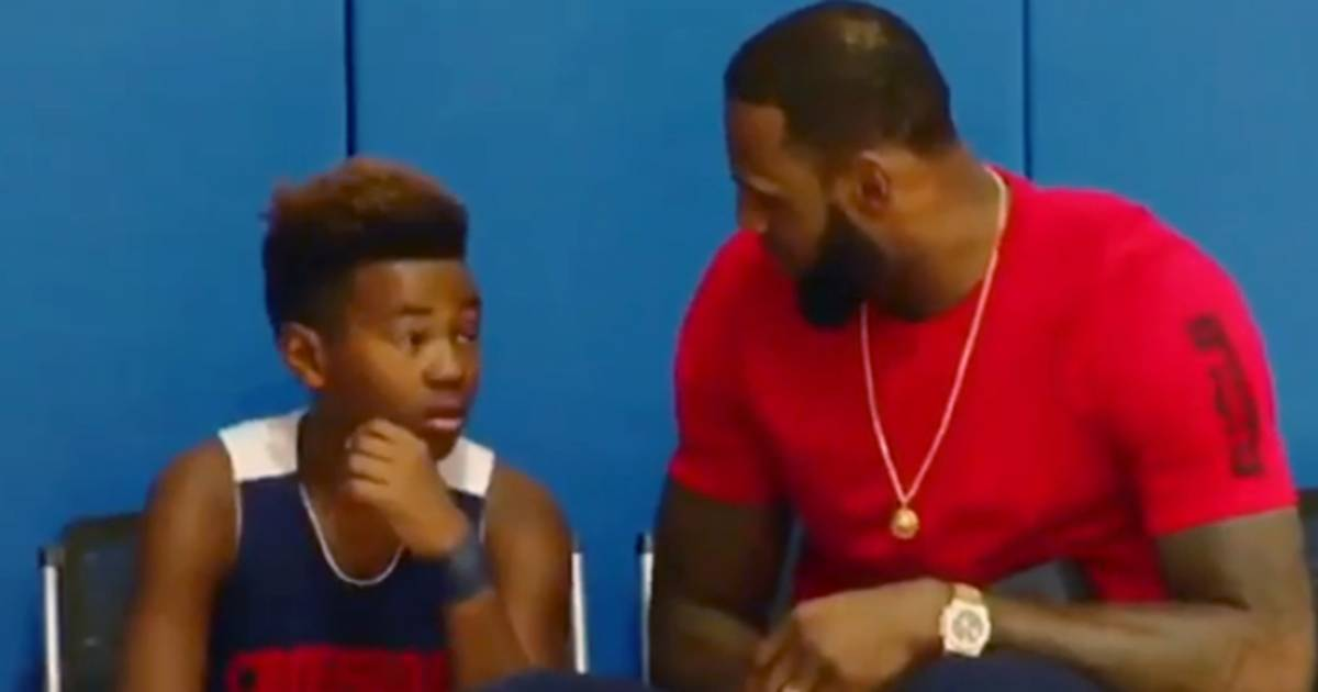 Watch LeBron James lift son's spirits with perfect pep talk after basketball game