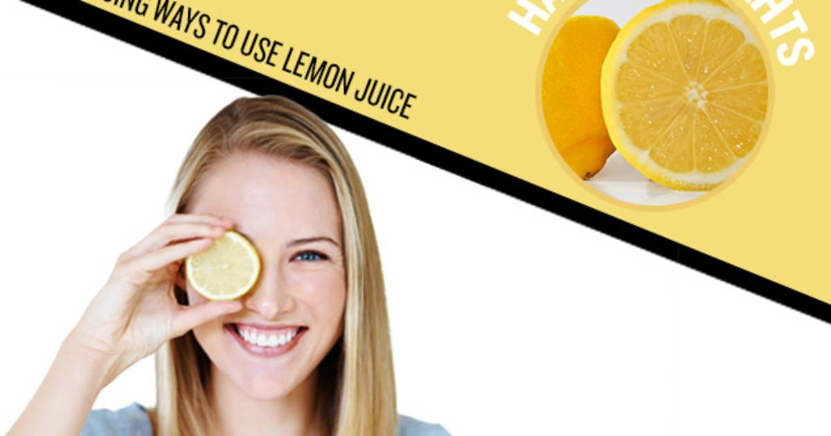 Use lemons for instant blonde highlights & other awesome beauty hacks