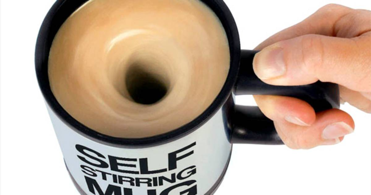 At long last: A self-stirring coffee mug