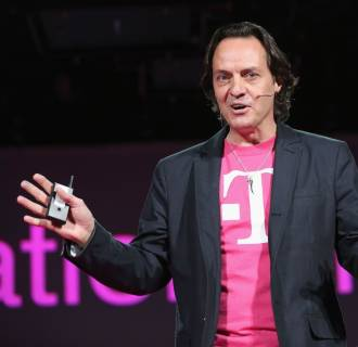 T-Mobile USA CEO John Legere makes an announcement