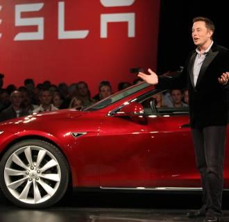 Tesla Motors CEO Elon Musk speaks during the Model S Beta Event held at the Tesla factory in Fremont, Calif.