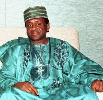 Image: Nigerian President General Sani Abacha during a summit in Lome, on March 26, 1997.