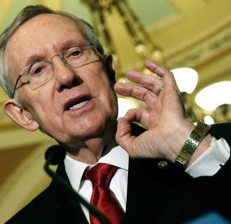 Image:  Senate Majority Leader Harry Reid