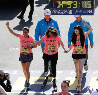 Image: 2014 B.A.A. Boston Marathon