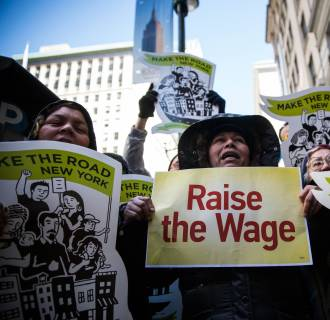 Amid the debate over raising the minimum wage, a new study shows that large numbers of jobs created since the recession ended pay less than the jobs they replaced.