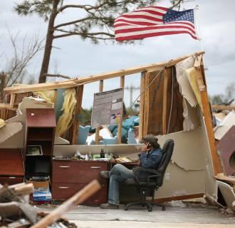 Image: Tornado-Ravaged Communities Deal With Major Devastation After Storms