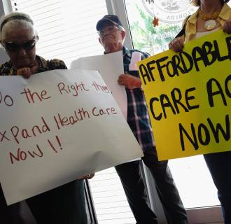 Image: Activists Demonstrate In Support Of Medicaid Expansion And The Affordable Healthcare Act