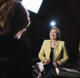 Image: Hillary Clinton during an interview with NBC News' Cynthia McFadden.