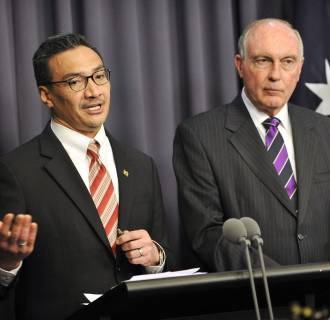 Image: Malaysia's Transport Minister Hishammuddin Hussein