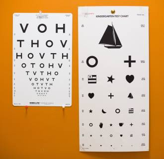 Image: Eye charts at a community health center