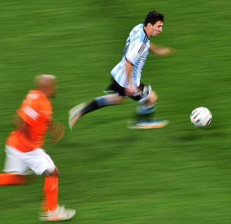 Image: Argentina's forward Lionel Messi
