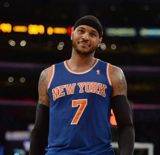 Image: FILE: Carmelo Anthony Reportedly To Re-Sign With Knicks New York Knicks v Los Angeles Lakers