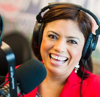 Image: Lupita Montoto, one of the programming directors (along with her husband Luis), of Madison, Wisconsin radio station La Movida 1040 am