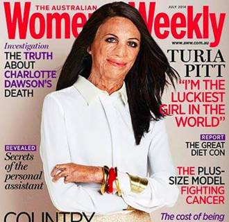Turia Pitt on the cover of The Australian Women's Weekly