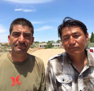 Image: Noe Fierro, who found victims' bodies, and right, Jerome Eskeets, who survived the attack.