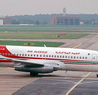 An Air Algerie passenger plane at Berlin's Schoenefeld airport.
