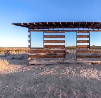 Image: Artist Phillip K. Smith III transformed this 70-year-old homesteader shack in Joshua Tree, California into a home