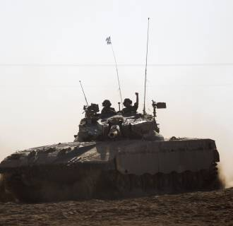 Image: Israeli tank on Friday