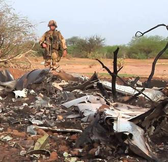 Image: TOPSHOTS-MALI-ALGERIA-BURKINA-FRANCE-AVIATION-CRASH