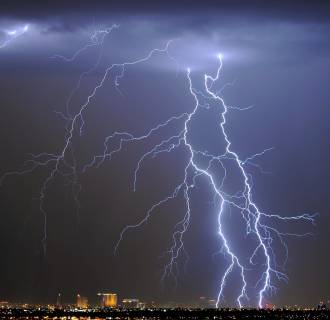 Image: Thunderstorm Rolls Through Las Vegas