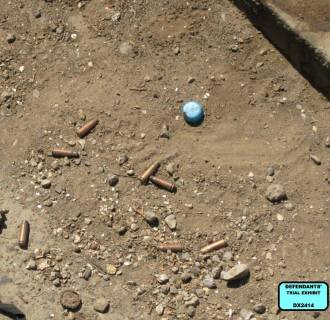 Image: Eight spent shell casings from the scene of the shootings of 14 Iraqui in Nisoor Square in Baghdad in 2007