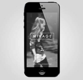 Image: MIRAGE, a ONE tap messaging app that lets you send UNRECORDED photo, video, text and voice messages.
