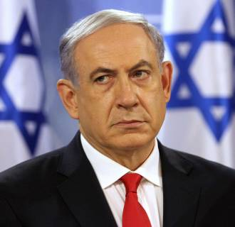 Image: Benjamin Netanyahu on Monday