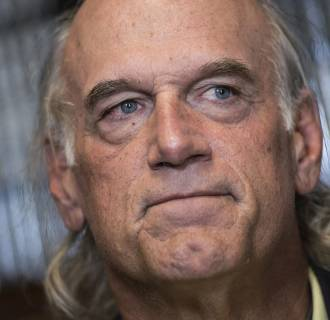Image: Former pro wrestler Jesse Ventura pauses while speaking about his book