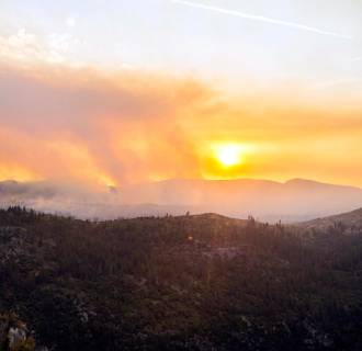 Image: The El Portal Fire burning in the Stanislaus National Forest and Yosemite National Park in California