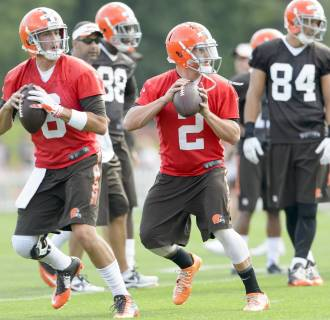Image: Brian Hoyer and Johnny Manziel