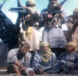 Two Spaniards and an Italian kidnapped in Algeria and purportedly held by an Al-Qaeda splinter group.