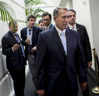 Image: Republicans Scramble on Border Bill