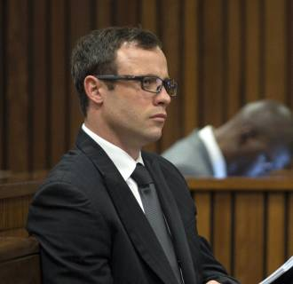 Image: Oscar Pistorius during the presentation of the final arguments of his murder trial