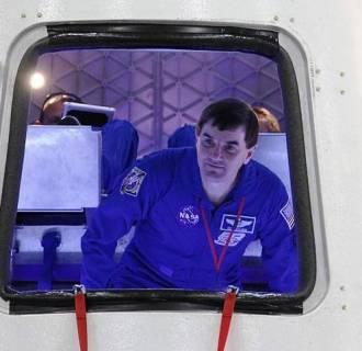 Image: Rex Walheim in SpaceX capsule