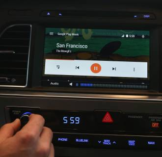 Image: Demonstration of the new Android Auto interface