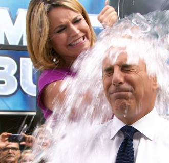 Image: Matt Lauer takes the Ice Bucket Challenge.