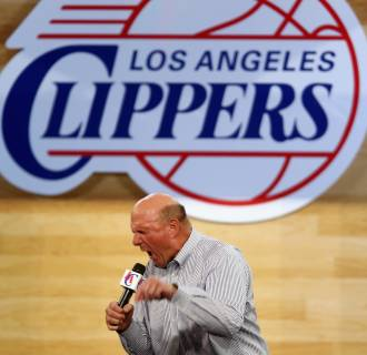 Steve Ballmer steps down from Microsoft board to run the NBA's LA Clippers team which he just purchased.