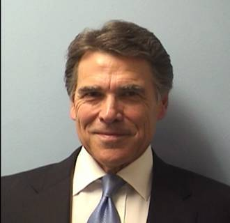 Image: Texas Gov. Rick Perry in a booking photo taken on Agu. 19, 2014.
