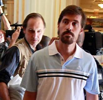 Image: U.S. journalist James Foley after being released by the Libyan government in 2011