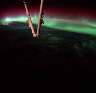 Image: The aurora borealis is visible from the International Space Station